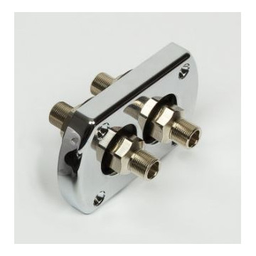 Bulkhead kit for dual hose with preassembled fittings
